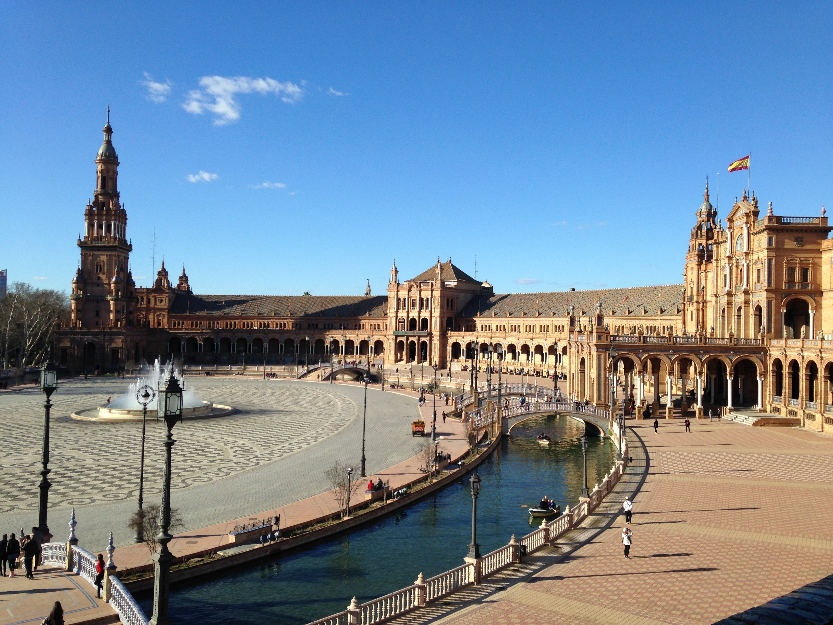 View from tower of Plaza España